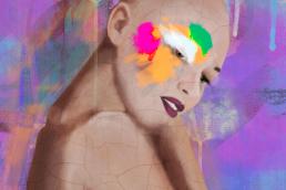 pintura-arte-digital-alopecia-femenina-empoderamiento-desarrollo personal